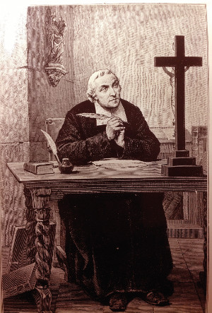 S. Juan Bautista de La Salle siempre se encomendaba a Dios y a la Virgen María a la hora de plasmar sus escritos