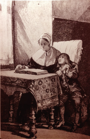El santo fundador de la Congregación de los Hermanos de las Escuelas Cristianas aprendió las primeras letras al lado de su bondadosa madre