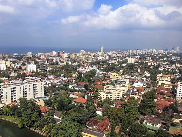 Vista aérea de Colombo, capital de Sri Lanka